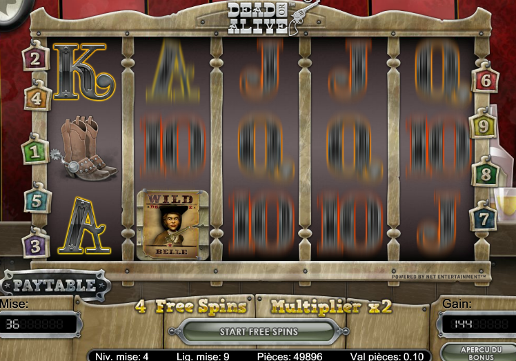 Video Slot Netent Dear or Alive