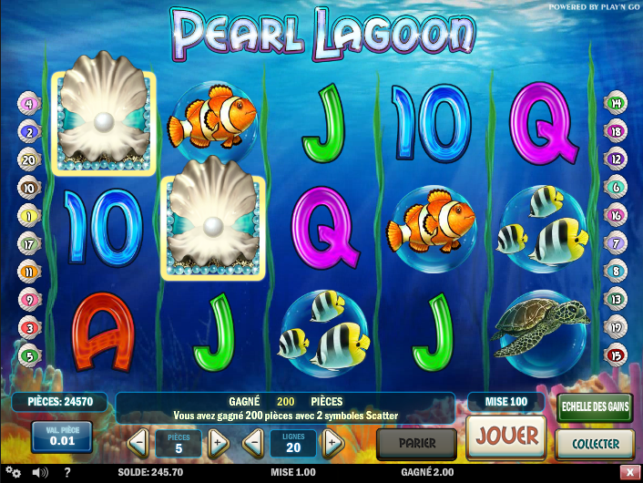 CELA - capture gains pearl lagoon slot